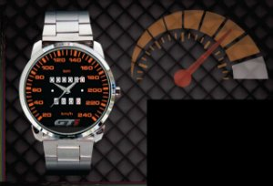 Relógio De Pulso Personalizado Painel Gol Gti 240km Quadrado