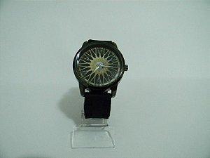 Relógio BBS Dourada Pulseira Borracha