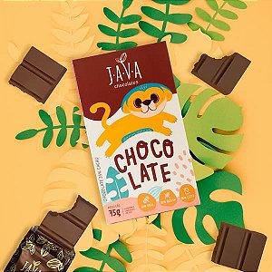 Chocolate INFANTIL zero leite JUPA - 75g - Docinho, sem glúten, zero leite e soja.
