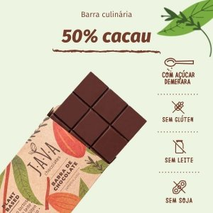 barra de chocolate 50% cacau - 1KG
