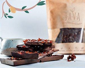 Chocolate quebra quebra CROCANTE 70% cacau com CARAMELO e flor de Sal - 175 g