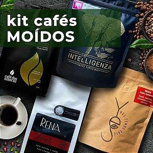 KIT CAFÉS especiais MOÍDOS de Belo Horizonte - 4 pacotes diferentes