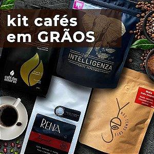 KIT CAFÉS especiais em GRÃOS de Belo Horizonte - 4 pacotes