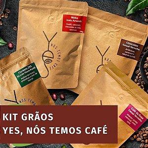 Kit - Yes, Nós Temos Café - GRÃOS - 4 pacotes