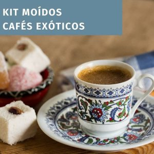 Kit 3 cafés especiais exóticos - MOÍDO