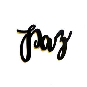 Quadro lettering acrílico Paz
