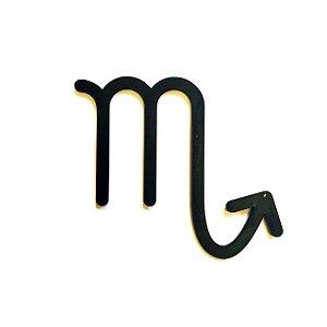 Quadro lettering acrílico Signo Escorpião