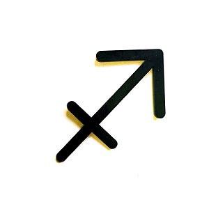 Quadro lettering acrílico Signo Sagitário