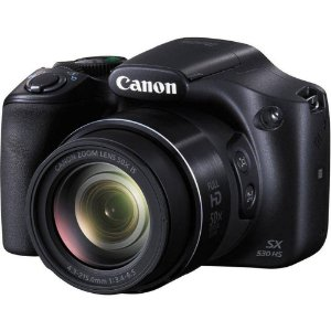 Câmera Digital Canon Powershot SX530 Hs Wi-Fi 16.0MP Zoom Óptico 50X Vídeo Full HD