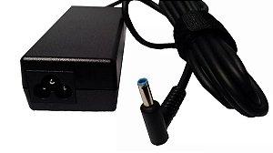 Fonte Compatível Carregador P/ Ultrabook Hp Pavilion Similar Plug Azul