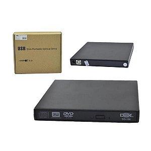 Gravador Portatil USB Externo + Cabos