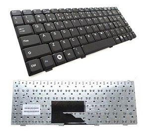 Teclado Compatível Notebook Itautec W7630 W7645 K022405e6 K022405e7 Abnt2 Br Com Ç