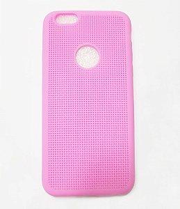 Capa Case Silicone Para Iphone 6S e Iphone 6 - Rosa