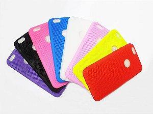 Kit 100 Unidades Capa Case Silicone Para Iphone 6S e Iphone 6 - Várias Cores