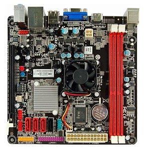 Placa Mãe Kronnus Biostar NM70I-1017U c/ Proc. Celeron 1017U Dual - Desktop OEM