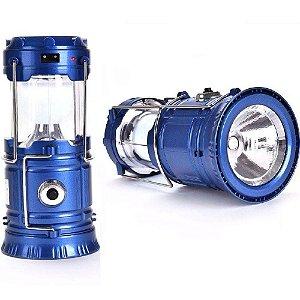 Lanterna e Lampião Solar LED 2 em 1 Recarregável com Saída USB - Cores / Bivolt