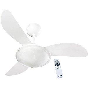 Ventilador de Teto Ventisol Sunny Premium Branco 3 Velocidades com Controle Remoto