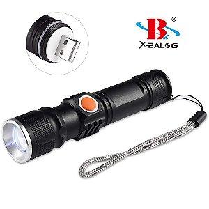 Mini Lanterna Led T6 Profissional Recarregável Usb luz branca e forte