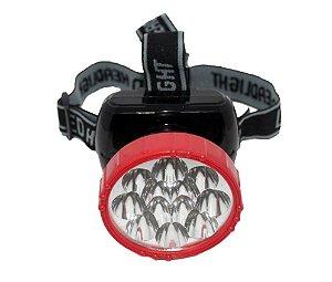Lanterna De Cabeça High Power 12 Led Headlight - LP-608 Recarregável Portátil