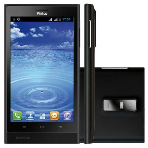 "Smartphone Philco Phone 500 2 Chips 4GB 8MP Tela 5"" Android 4.0 3G Wifi - Preto"