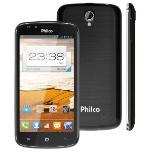 "Smartphone Philco Phone 530 2 Chips 4GB 8MP Tela 5,3"" Android 4.0 3G Wifi - Grafite"