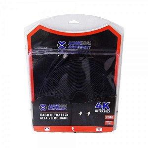 Cabo HDMI Ultra HD 2.0 3D 4K Alta Velocidade AOWEIXUN - 20 Metros