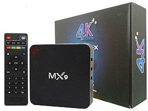Aparelho Para Transformar TV Em Smart TV Box MX-9 Ultra HD 4K2K Com Android 7.1
