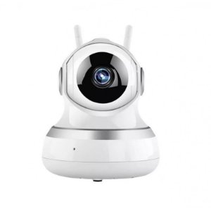 Câmera IP wireless 360º 2 antenas áudio infravermelho visão noturna