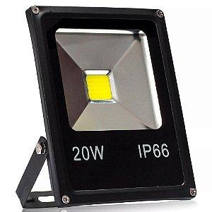Refletor Led NBW Bivolt 20W Branco Frio 6000k IP66