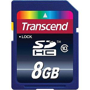 kit 3 Cartões de Memória Classe 10 SDHC 8gb Transcend - Sem Blister