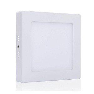 Painel Plafon Led Sobrepor Quadrado 12w Luminária 6000k - Branco Frio