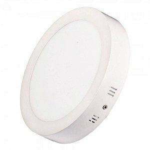 Painel Plafon Led Sobrepor Redondo 18w Luminária 6000k - Branco Frio