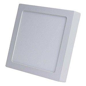Luminária Painel Plafon Led Sobrepor Quadrado 25w Branco Frio