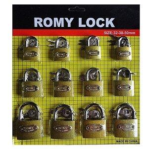Cadeado Reforçado Portão Grade Janela Kit Com 12 Unidades - Romy Lock