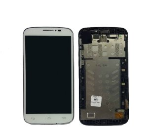 Touch Display Frontal Alcatel One Pop C7 7040e 7040d Branco