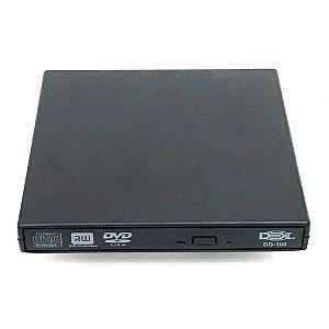 Kit 200 Leitor Gravador de DVD Externo Slim USB - NBW