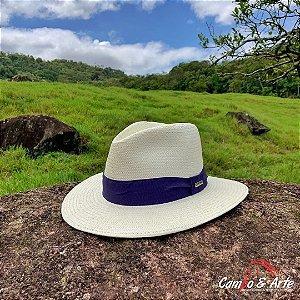 Chapéu Casual Shantung U.V. Azul - Marcatto