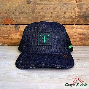 Boné Jeans Verde Neon - Texas Farm