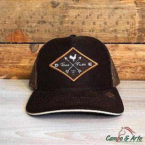 Boné Marrom Losango - Texas Farm
