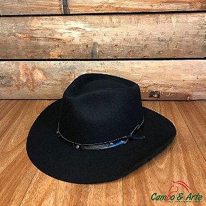 Chapéu Preto Lã 5X