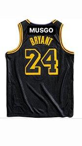 Camiseta Regata Esporte Basquete Los Angeles Kobe Bryant Número 24 Black Mamba