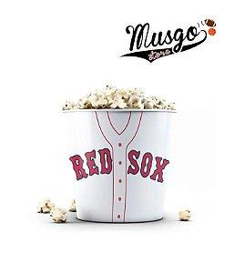 Balde de Pipoca Baseball  Boston Red Sox  Branco