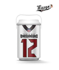 Cooler Esporte Futebol Americano NFL Tampa Bay Buccaneers Tom Brady Número 12 Branco