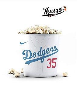 Balde de Pipoca Baseball  Los Angeles Dodgers Branco