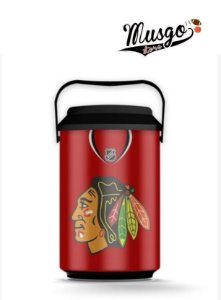 Cooler Esporte Hockey NHL Chicago blackHawks Stan Mikita Numero 21 Vermelho