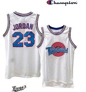 Camiseta Regata Esportiva Basquete Space Jam Túne Squad Michael Jordan Numero 23 Branca