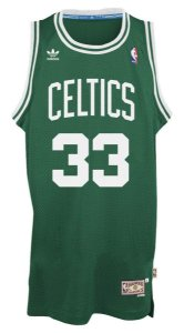 Camiseta Esportiva Regata Basquete NBA Swingman Classics Boston Celtics Larry Bird Numero 33 Verde