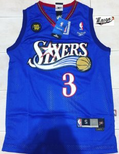 Camiseta Regata Basquete  NBA Philadelphia 76ers Celebration Allen Iverson #3