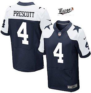 Camisa Esporte Futebol Americano NFL Dallas Cowboys Dak Prescott Número 4