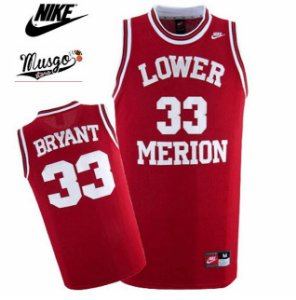 Camiseta Regata Basquete Colegial High School Lower Merion Kobe Bryant Numero 33